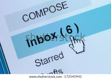 Computer Monitor screen, concept of email - stock photo