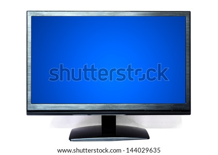 Computer Mornitor isolated on white background