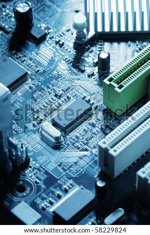Computer motherboard - stock photo