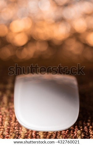 Computer mouse and beautiful light background - stock photo