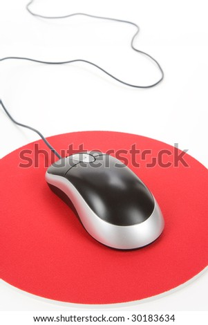 Computer Mouse and pad, Concept of internet