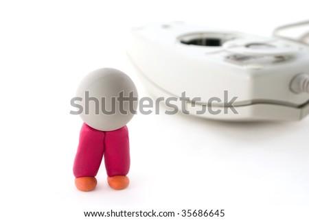Computer mouse ball concept - stock photo