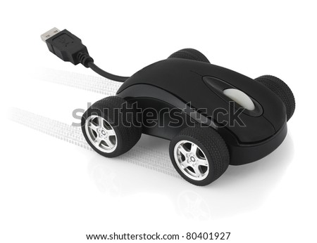 Computer mouse concept, speed mouse