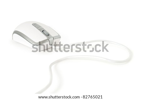 computer mouse isolated on white