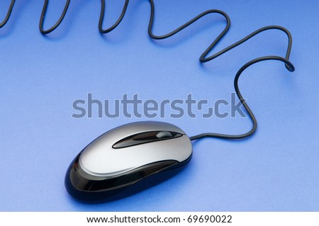 Computer mouse on the background - Technology concept