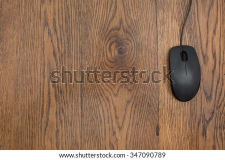 computer mouse on the desk