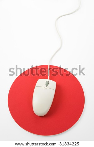 computer mouse with white background