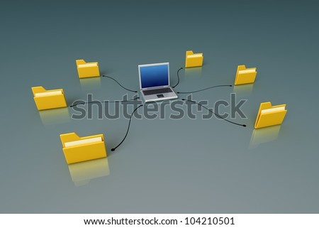 Computer network - Internet concept