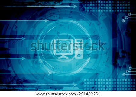 Computer Networking background - stock photo