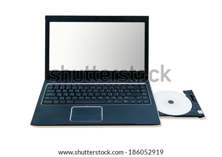 computer notebook isolate white background