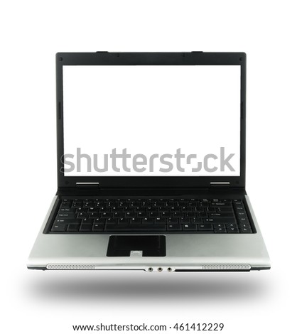 Computer notebook isolated on white background
