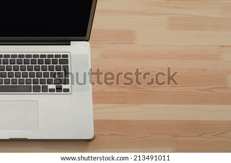 Computer on office desk - stock photo