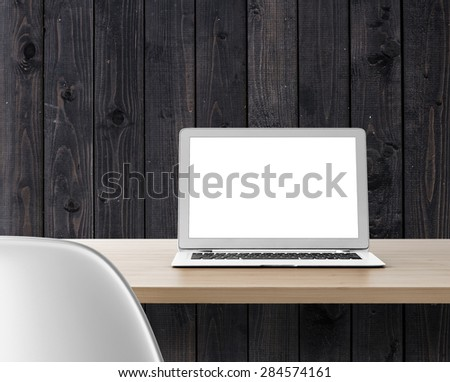 Computer on table