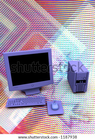 COMPUTER PC WORKSTATION - stock photo