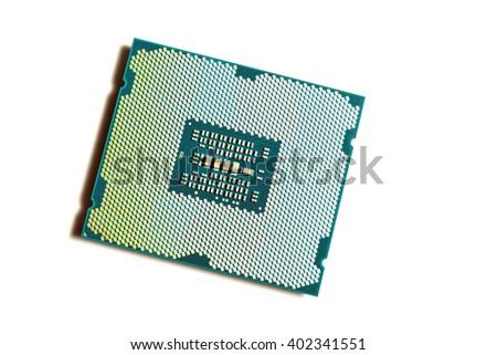 Computer processor closeup - stock photo