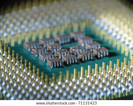 Computer processor closeup - stock photo