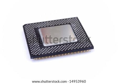 Computer Processor CPU - stock photo