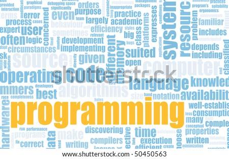 Computer Programming Code Concept as a Abstract - stock photo