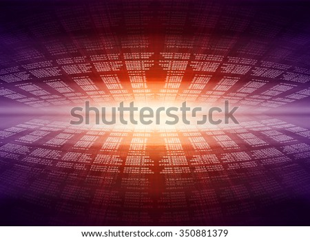 Computer programming coding screen source script of developer software at computing work - stock photo