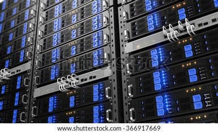 Computer rack servers - stock photo