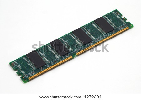 computer ram on white