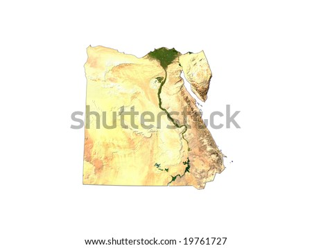 Computer Render Of Egypt On White Background