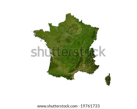 Computer Render Of France On White Background