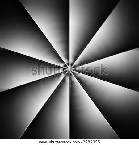 Computer rendered 3D image of propeller industrial background - stock photo