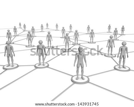 Computer Rendered Graphic for the concept of networking