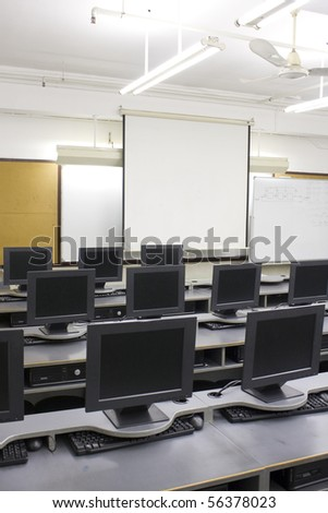 Computer Room - stock photo