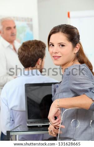 Computer School - stock photo