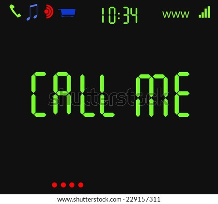 Computer screen asking to call