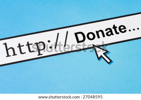 Computer Screen, concept of Online Donate