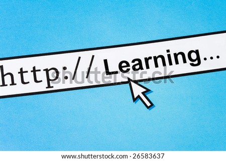 Computer Screen, concept of Online Learning - stock photo
