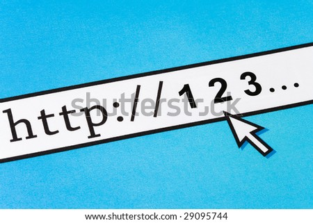 Computer Screen 1 2 3, concept of Online Learning - stock photo