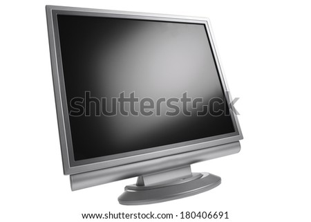 Computer screen isolated on white background