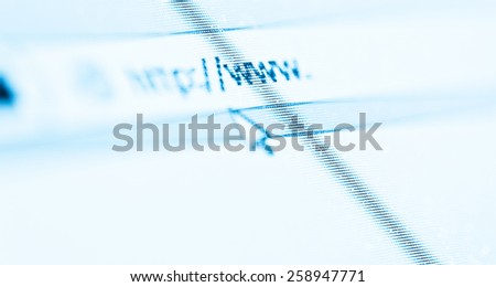 Computer Screen With Address Bar of Web Browser  - stock photo
