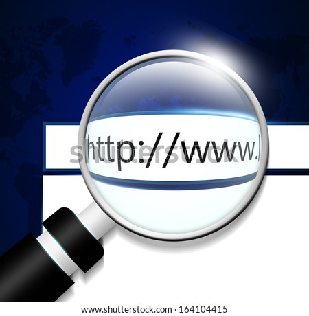 computer screen with adress bar in web browser - stock photo