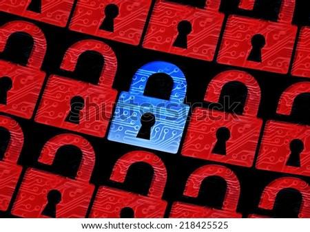 computer security concept / data encryption concept - stock photo