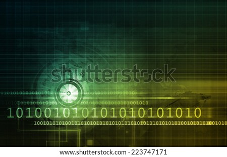 Computer Security Concept for Digital or Online Data - stock photo