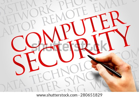 COMPUTER SECURITY word cloud concept