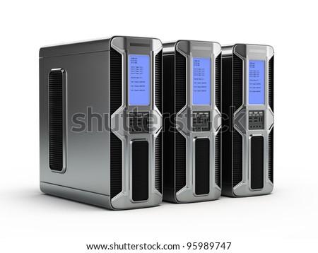 Computer servers - stock photo
