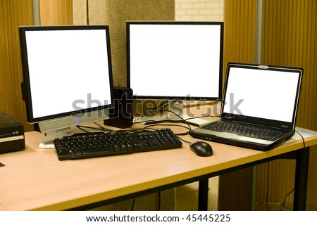 Computer set up - stock photo