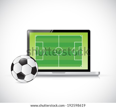 computer soccer concept illustration design over a white background - stock photo