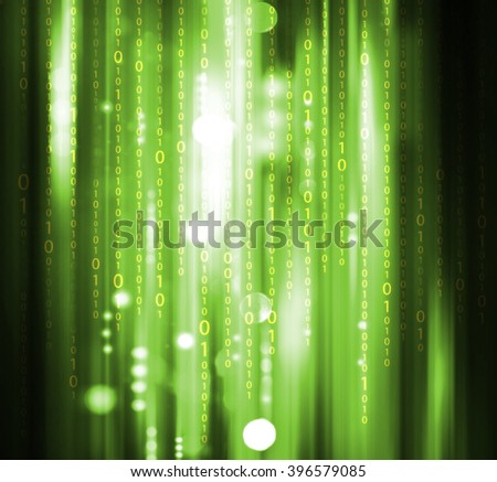 Computer Software Binary Code - stock photo
