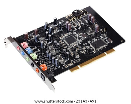 Computer sound card the chip - stock photo
