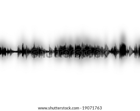 Computer sound waves image - stock photo