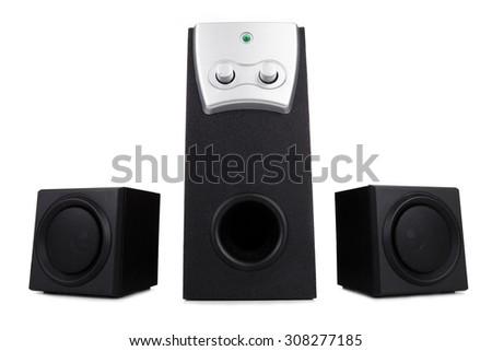 Computer speakers  - stock photo