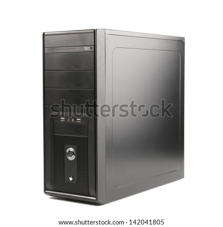 computer system unit on a white background - stock photo