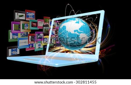 computer technology - stock photo